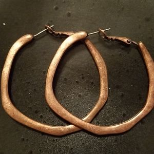 Copper tone Cirle Earrings